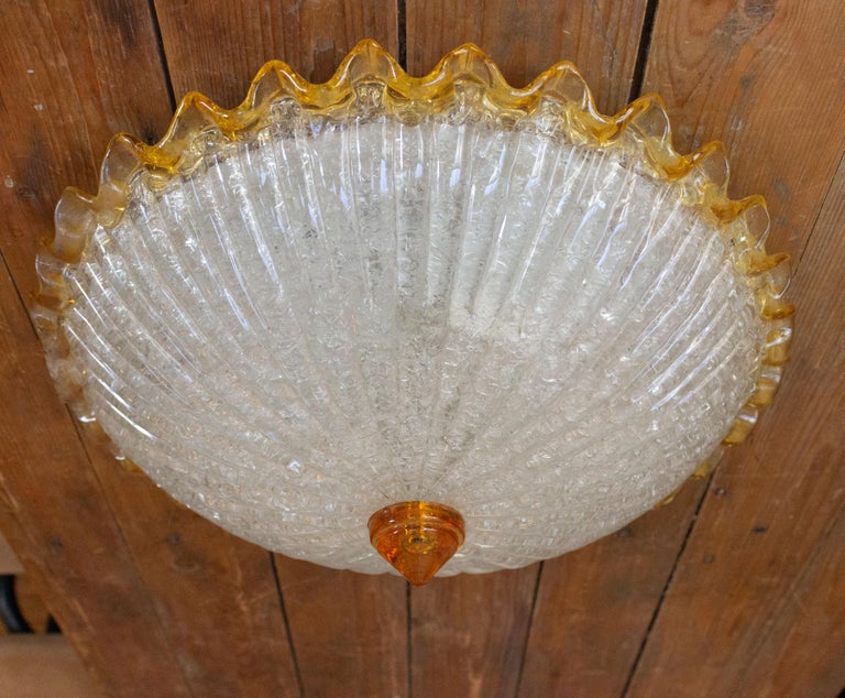Blown Glass Murano Glass Ceiling Fixture For Sale