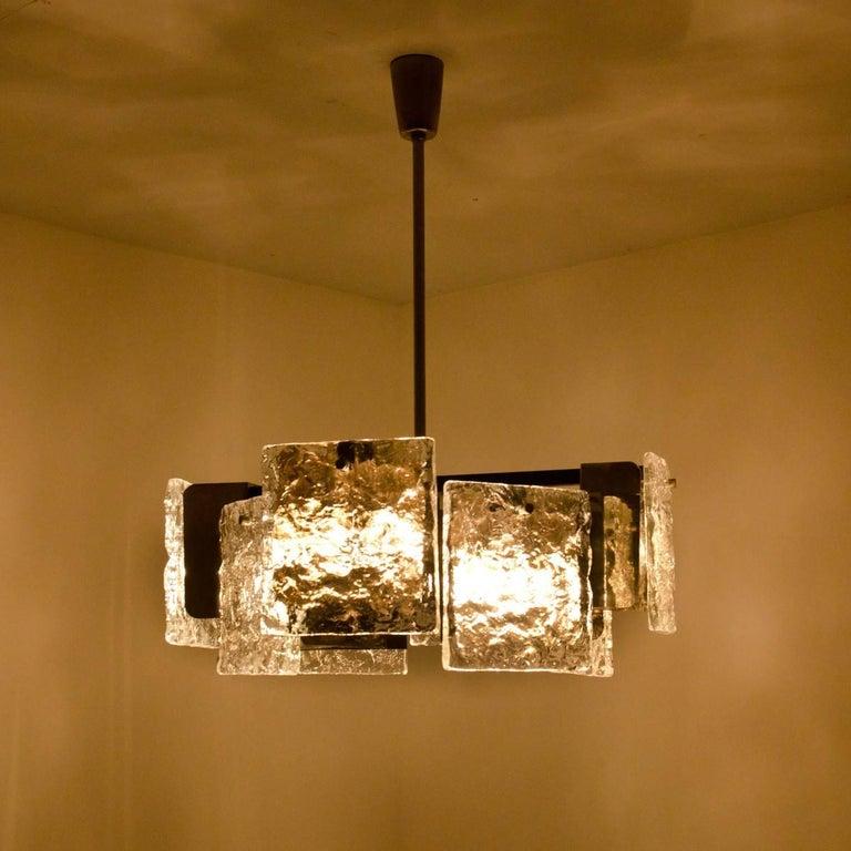 Mid-Century Modern Murano Glass Ceiling Light from Kalmar, 1960s For Sale