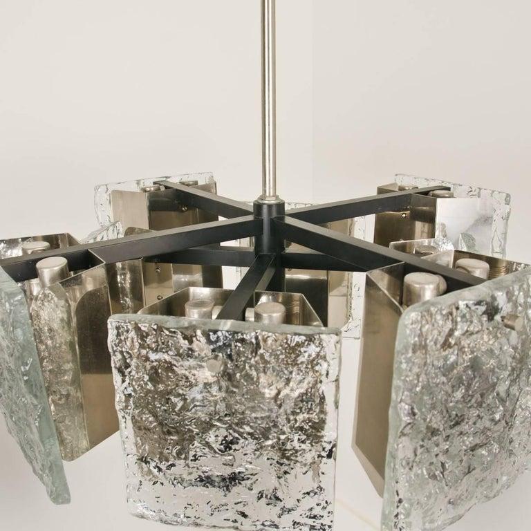 Murano Glass Ceiling Light from Kalmar, 1960s For Sale 1