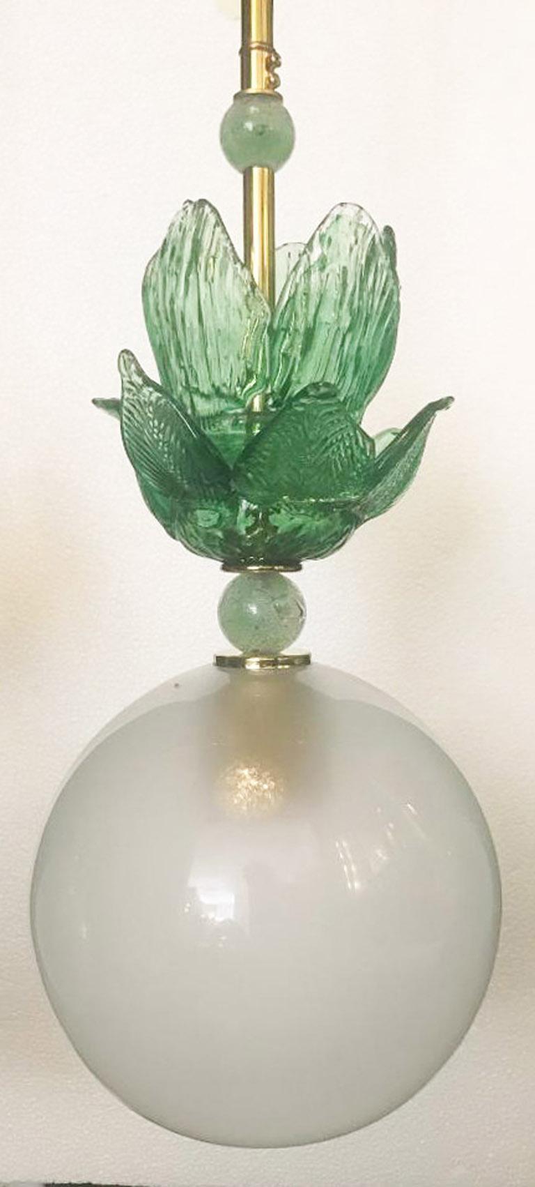 Contemporary Murano Glass Ceiling Pendants, Set of Four