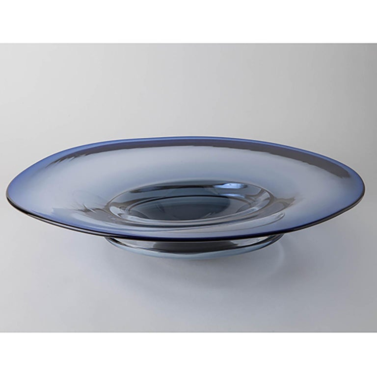 Modern Murano Glass Centerpiece Organic Shape For Sale