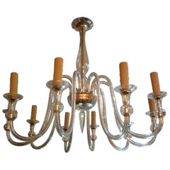 Murano Glass Chandelier Attributed to Seguso