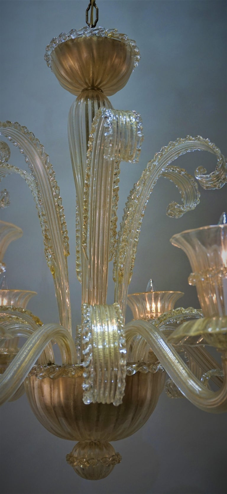 Murano Glass Chandelier by Barovier Toso In Good Condition For Sale In Fairfax, VA