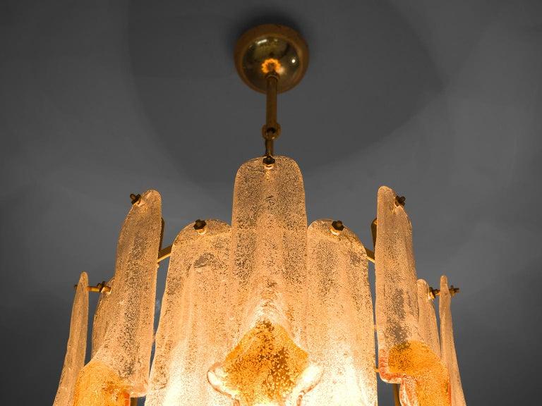 Italian Murano Glass Chandelier by Mazzega For Sale