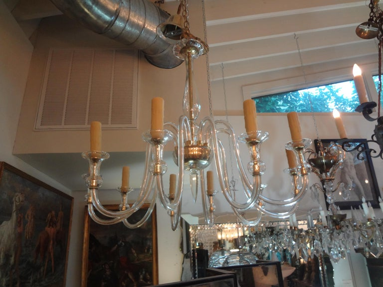 Murano Glass Chandelier Attributed to Seguso 4