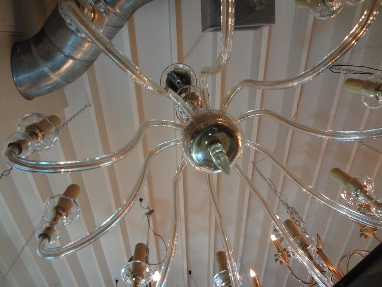 Murano Glass Chandelier Attributed to Seguso In Good Condition In Houston, TX
