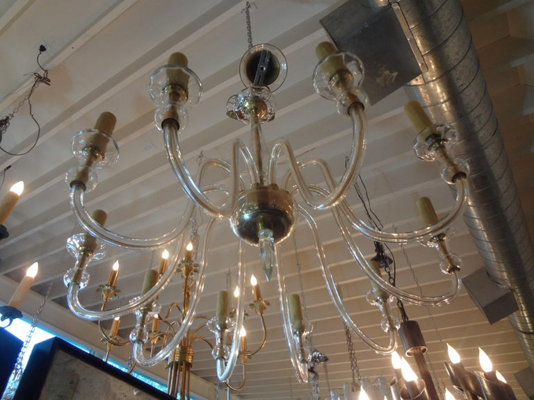 Mid-20th Century Murano Glass Chandelier Attributed to Seguso