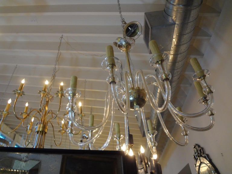 Blown Glass Murano Glass Chandelier Attributed to Seguso