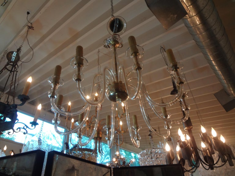 Murano Glass Chandelier Attributed to Seguso 1