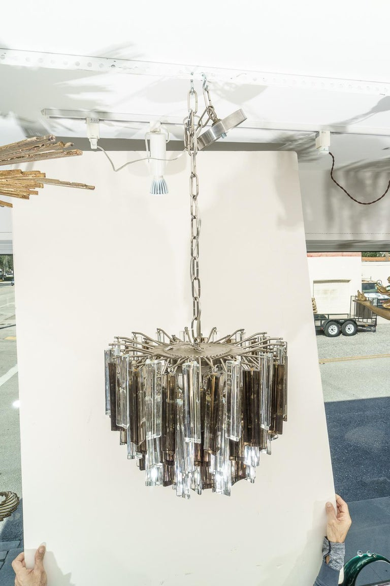 Italian Murano Glass Chandelier by Venini for Camer Glass For Sale