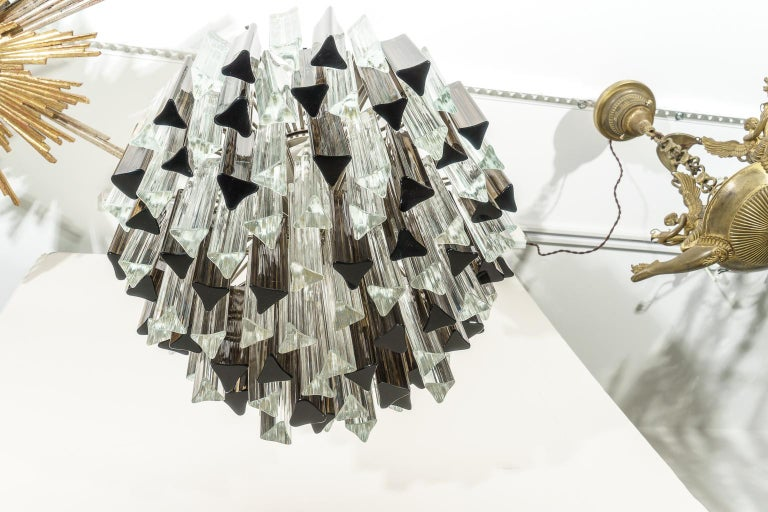 Murano Glass Chandelier by Venini for Camer Glass In Good Condition For Sale In West Palm Beach, FL