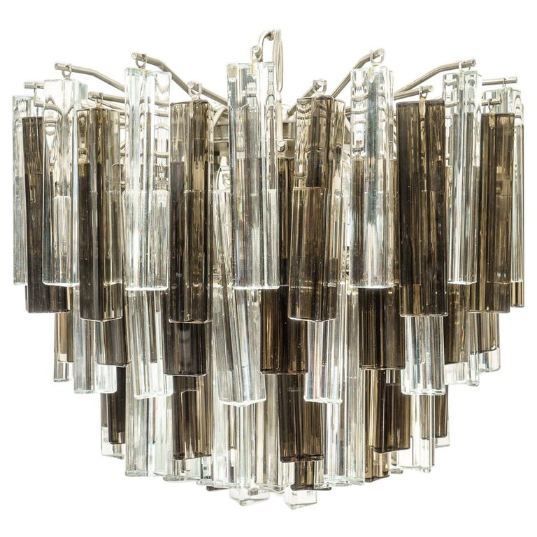Murano Glass Chandelier by Venini for Camer Glass For Sale