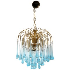 Murano Glass Chandelier in Style of Paolo Venini, 1960s