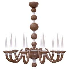 Murano Glass Chandelier in the Style of Barovier