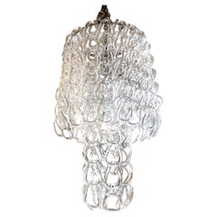 Murano Glass Chandelier Inspired by Mangiarotti, Italy, 1960s