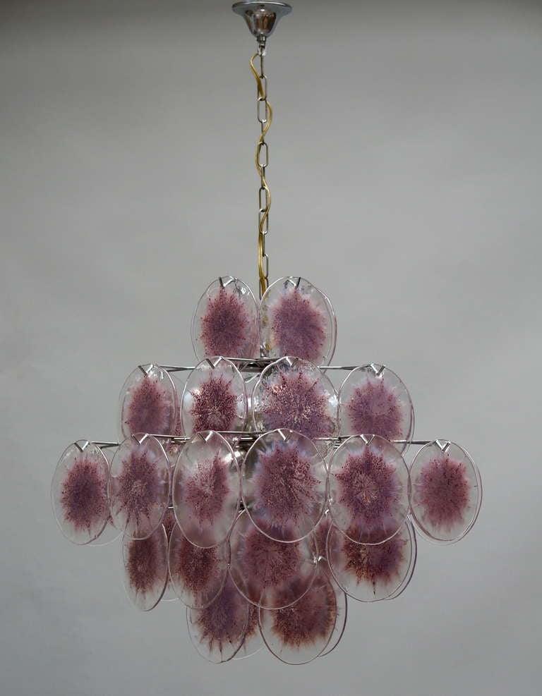 20th Century Italian Murano Glass Chandelier, Italy For Sale