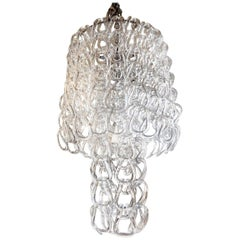 Murano Glass Chandelier, Mangiarotti Inspired, Italy, 1960s