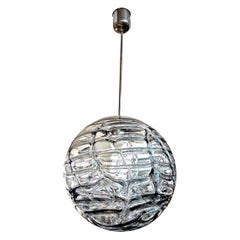 Murano Glass Chandelier or Pendant-Sphere Shaped Inspired by Venini