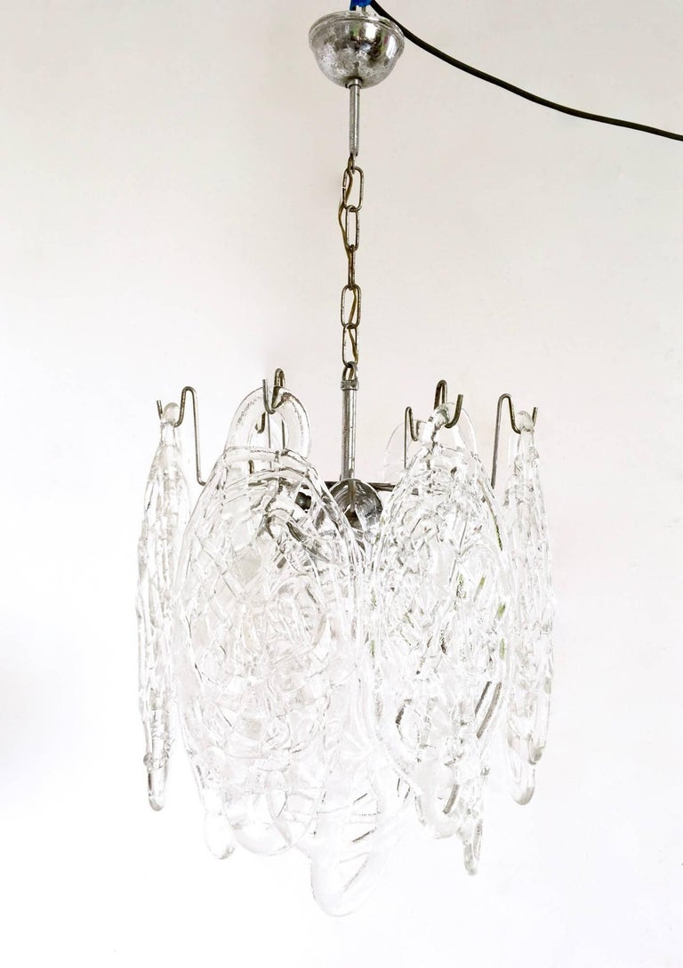 Mid-20th Century Murano Glass Chandelier