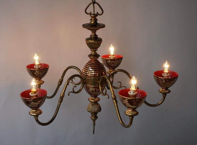 Murano Glass Chandelier with two Sconces For Sale 3