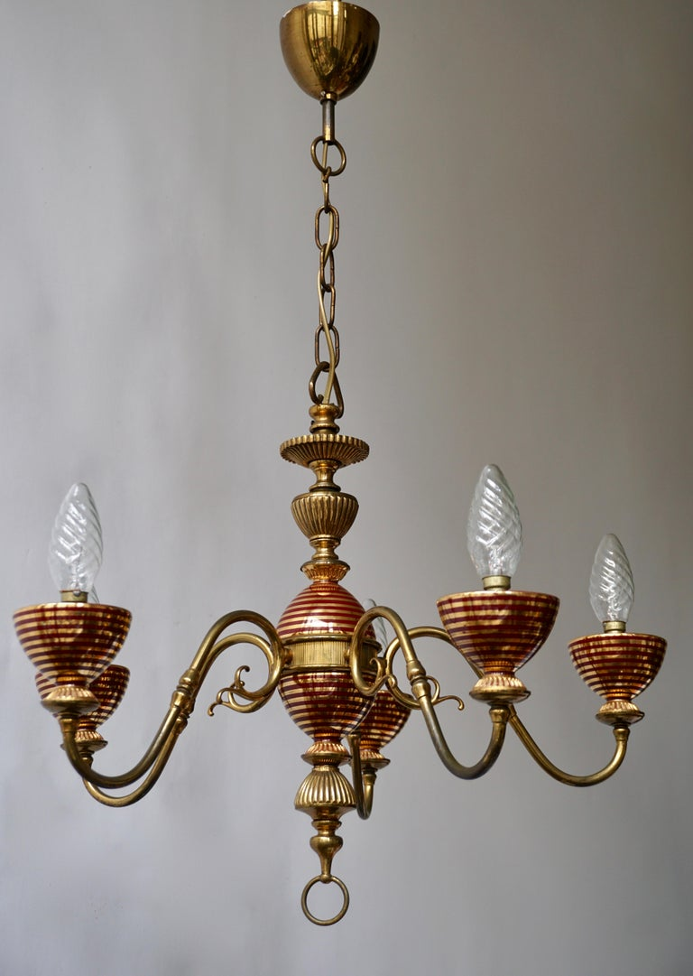 20th Century Murano Glass Chandelier with two Sconces For Sale