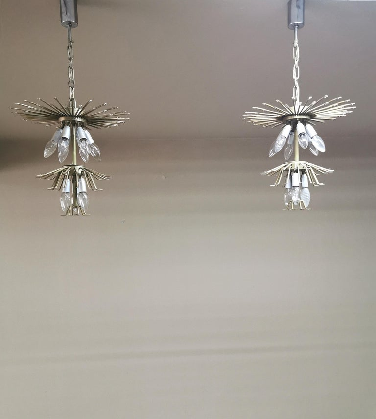 Chandeliers Murano Glass by Venini Midcentury Italian Design 1960s Set of 2 For Sale 12