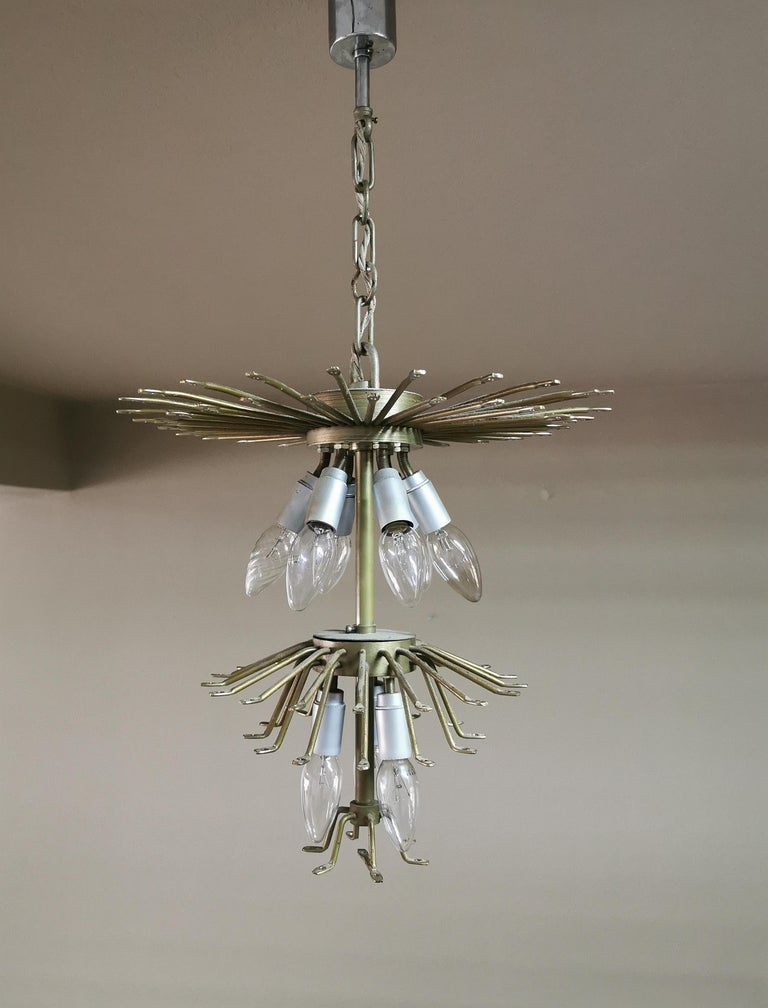 Chandeliers Murano Glass by Venini Midcentury Italian Design 1960s Set of 2 For Sale 13