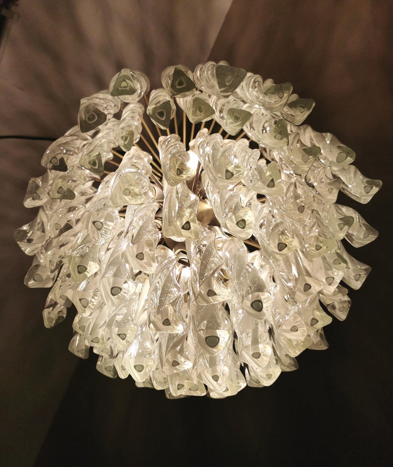 Chandeliers Murano Glass by Venini Midcentury Italian Design 1960s Set of 2 For Sale 2