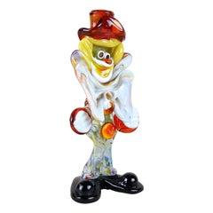 Murano Glass Clown Multicolored Handmade, Italy, circa 1950
