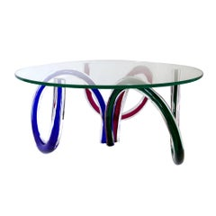 Murano Glass Coffee Table by Maurice Barilone for Roche Bobois, Italy
