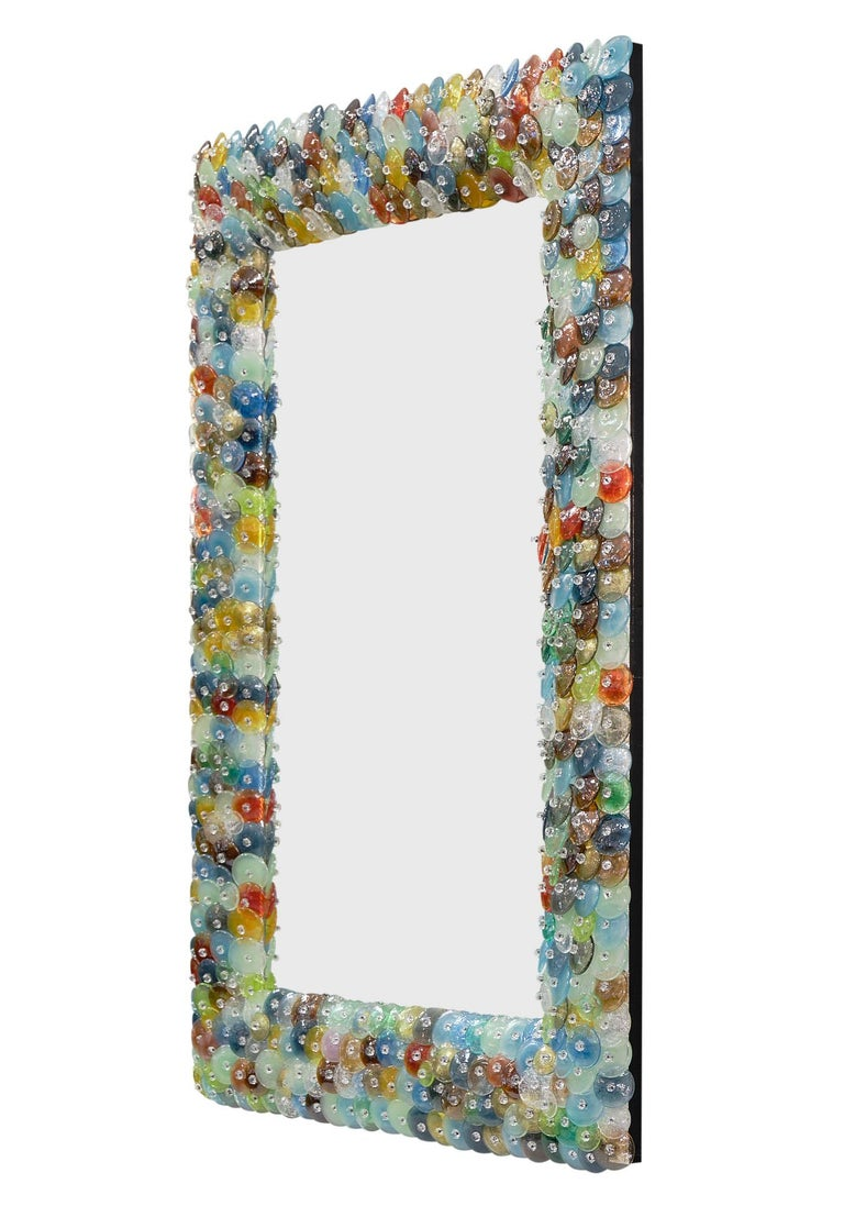 """Mid-Century Modern Murano Glass """"Coriandoli"""" Mirror For Sale"""
