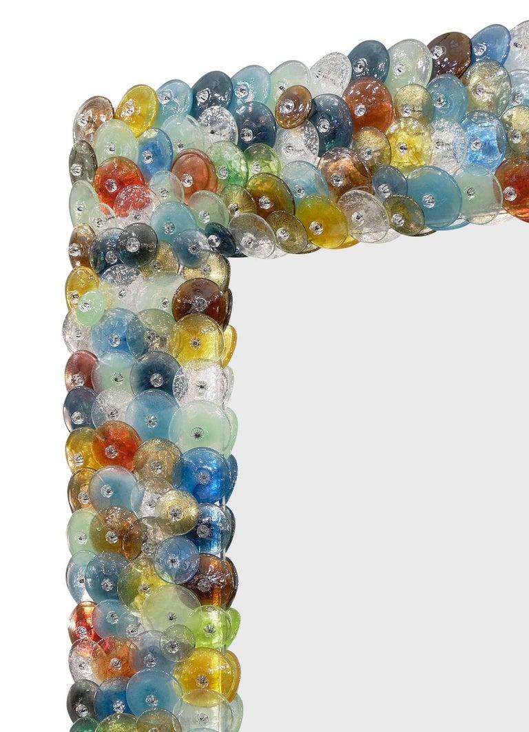 """Italian Murano Glass """"Coriandoli"""" Mirror For Sale"""