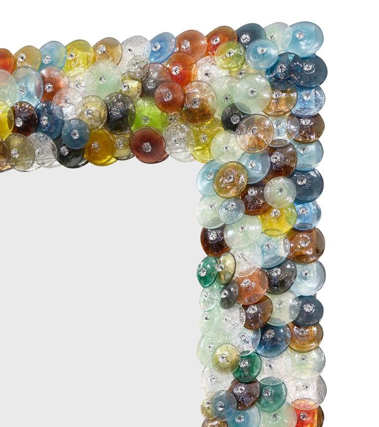 """Murano Glass """"Coriandoli"""" Mirror In Good Condition For Sale In Austin, TX"""