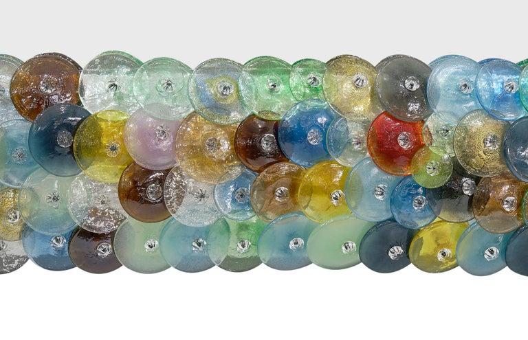 """Contemporary Murano Glass """"Coriandoli"""" Mirror For Sale"""