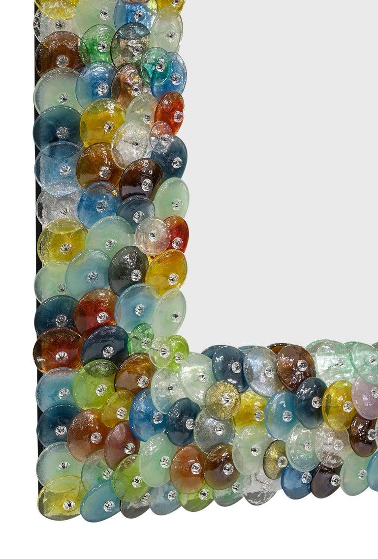 """Murano Glass """"Coriandoli"""" Mirror For Sale 1"""