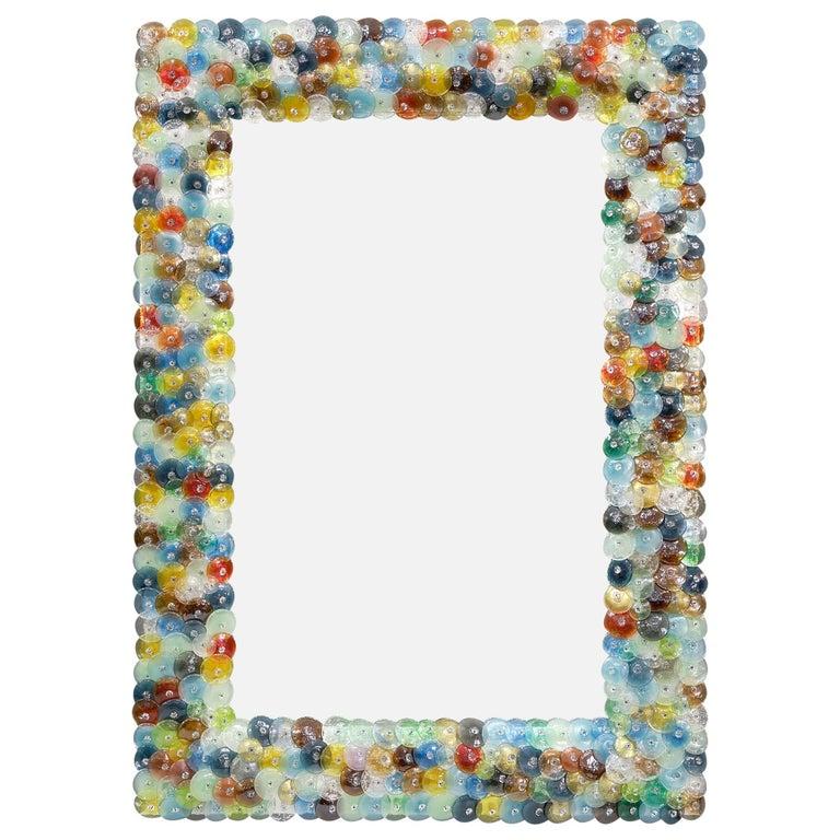 """Murano Glass """"Coriandoli"""" Mirror For Sale"""