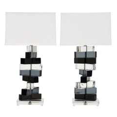 Murano Glass Cubist Lamps