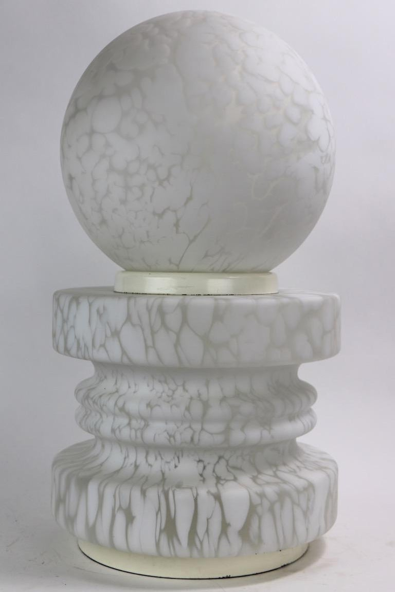 20th Century Murano Glass Cumulus Pawn Lamp by Mazzega attributed to Carlo Nason For Sale