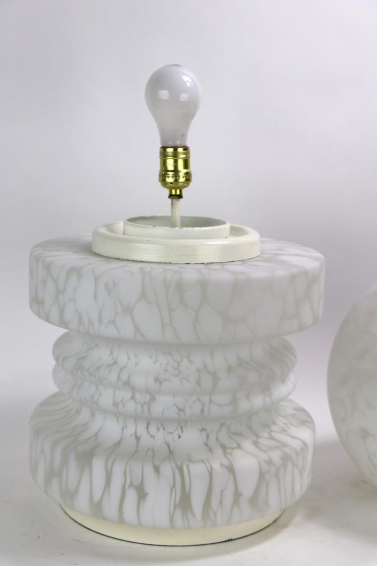 Art Glass Murano Glass Cumulus Pawn Lamp by Mazzega attributed to Carlo Nason For Sale