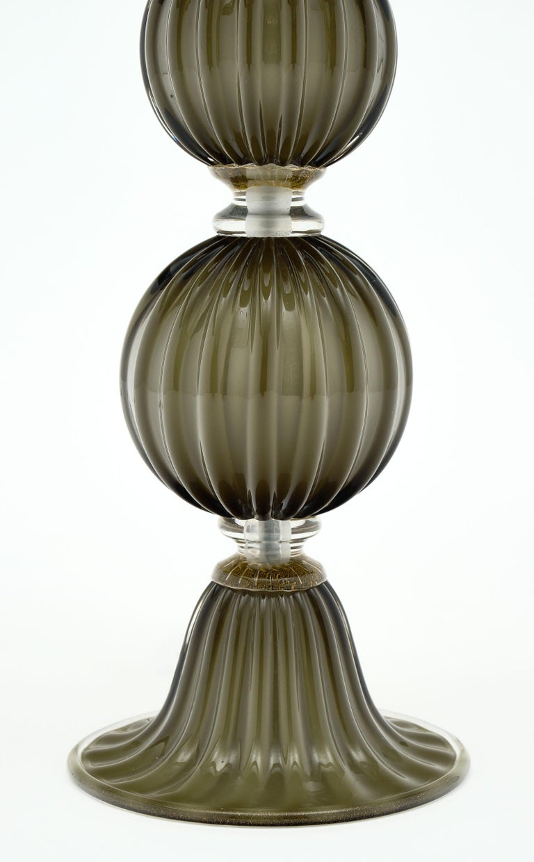Murano Glass Dark Smoke Lamps For Sale 1