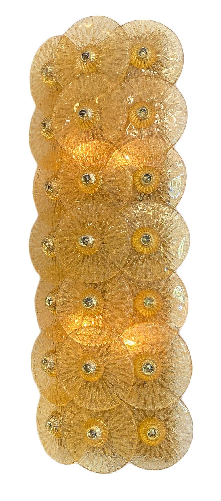 Modern Murano Glass Disc Sconces by Carlo Nason For Sale
