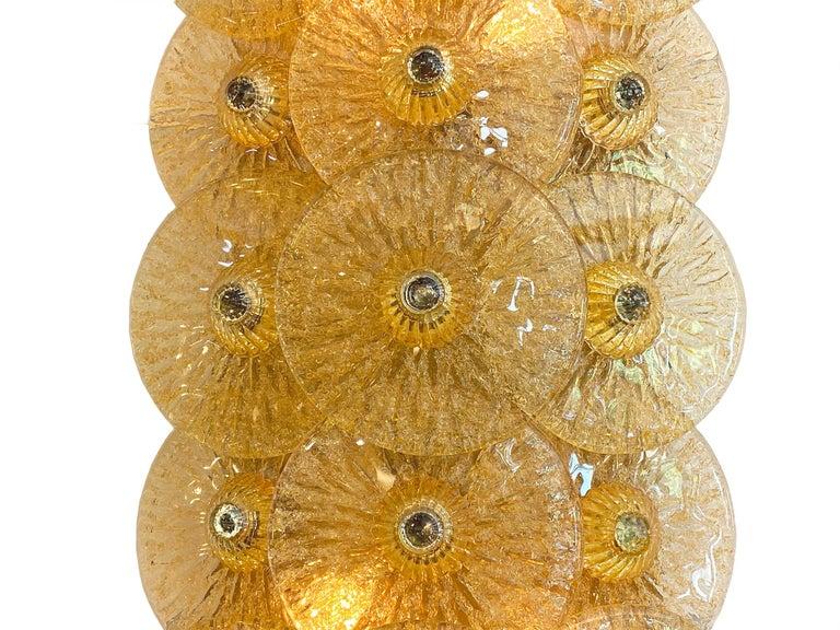 Italian Murano Glass Disc Sconces by Carlo Nason For Sale