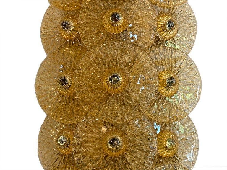 Murano Glass Disc Sconces by Carlo Nason In Excellent Condition For Sale In Austin, TX