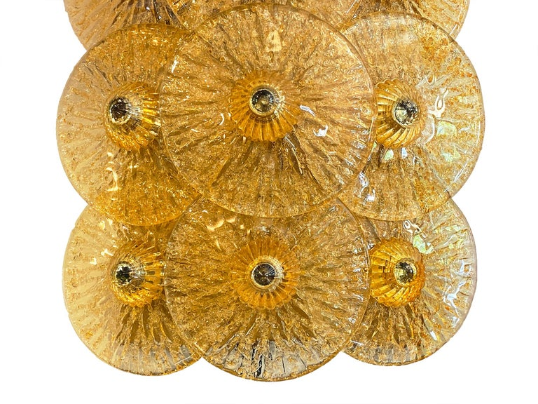Murano Glass Disc Sconces by Carlo Nason For Sale 1