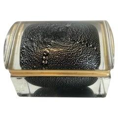 Murano Glass Domed Cased Jewelry Box