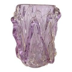 """Murano Glass """"drizzle"""" Motif Vase"""