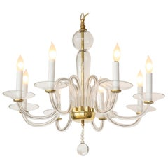 Murano Glass Eight Arm Chandelier