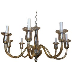 Murano Glass Eight-Arm Chandelier, Italy, 1940s
