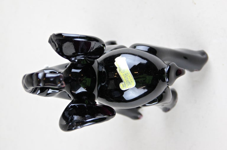 Murano Glass Elephant Sculpture Midcentury, Italy, circa 1960 For Sale 6