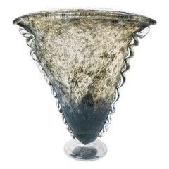 Murano Glass, Ercole Barovier for Ferro, Toso, Barovier, Crepuscolo Vase, 1930s